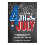 El cuarto patriótico de los fuegos artificiales anuncio personalizado
