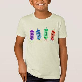El cuatro camisetas de los niños de Dreidels