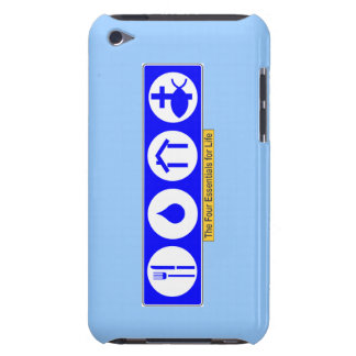 El cuatro esencial para la vida iPod touch Case-Mate carcasa