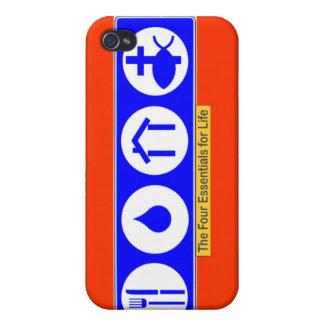 El cuatro esencial para la vida iPhone 4 protectores