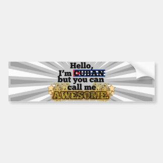 El cubano, pero me llama impresionante pegatina de parachoque