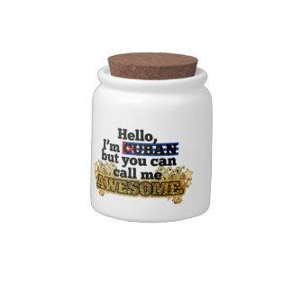 El cubano, pero me llama impresionante jarra para caramelo