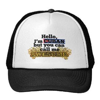 El cubano, pero me llama impresionante gorras de camionero