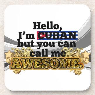 El cubano, pero me llama impresionante posavasos de bebida