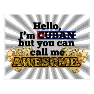 El cubano, pero me llama impresionante tarjetas postales
