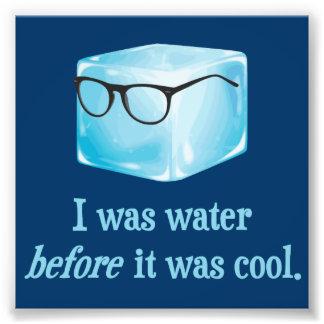 El cubo de hielo del inconformista era agua antes  fotografía