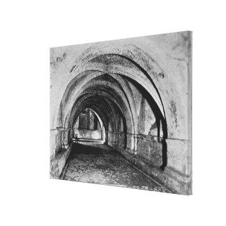 El cubo de la cripta lienzo envuelto para galerías