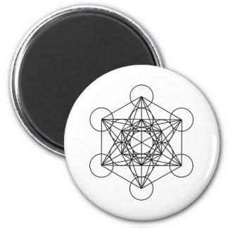 El cubo de Metatron (blanco) Iman De Nevera