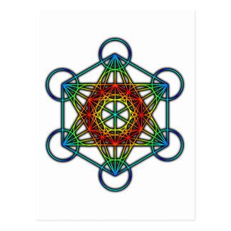 El cubo de Metatron (color 1) Postal