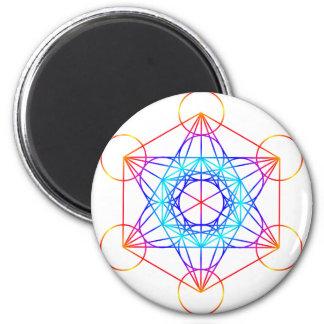 El cubo de Metatron (color 2) Imán Para Frigorifico