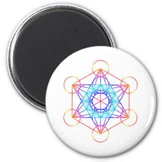 El cubo de Metatron (color 2) Imanes