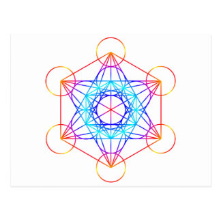 El cubo de Metatron (color 2) Postal
