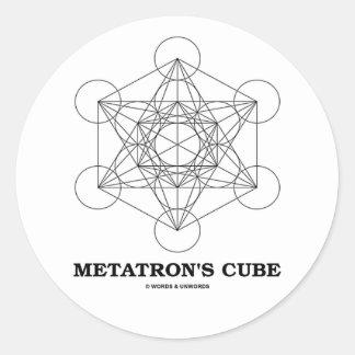 El cubo de Metatron (geometría sagrada) Pegatinas