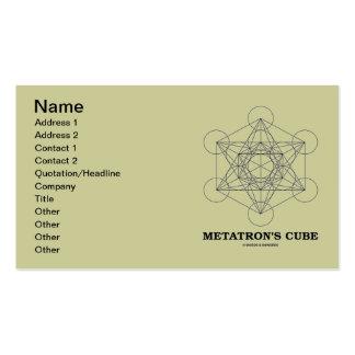 El cubo de Metatron (geometría sagrada) Tarjetas De Visita