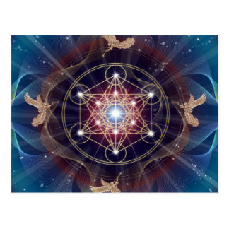 El cubo de Metatron - Merkabah - geometría sagrada Postal