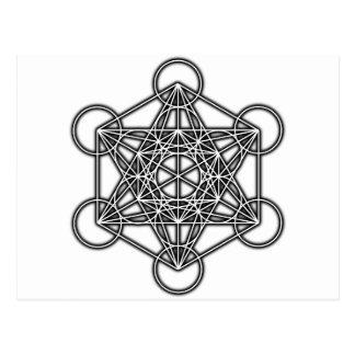 El cubo de Metatron (negro) Postal
