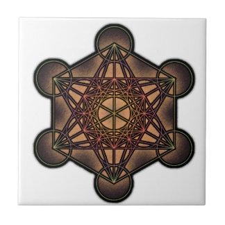 El cubo de Metatron - símbolo sagrado de la geomet Tejas Cerámicas