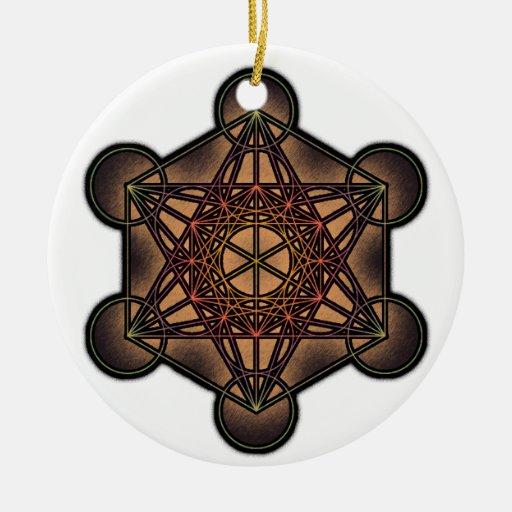 El cubo de Metatron - símbolo sagrado de la geomet Adornos