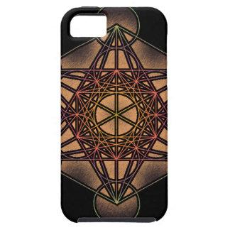 El cubo de Metatron - símbolo sagrado de la geomet iPhone 5 Case-Mate Protector