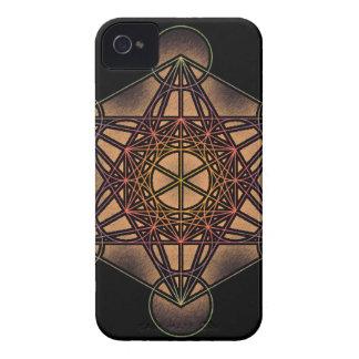 El cubo de Metatron - símbolo sagrado de la geomet iPhone 4 Case-Mate Cárcasa