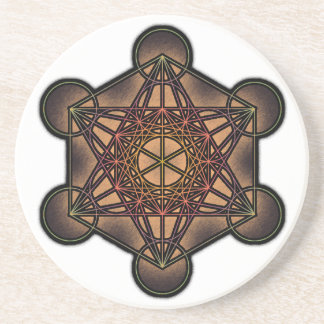 El cubo de Metatron - símbolo sagrado de la geomet Posavaso Para Bebida