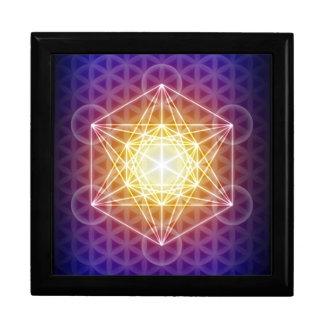 El cubo/la flor de Metatron de la caja de la barat Joyero Cuadrado Grande