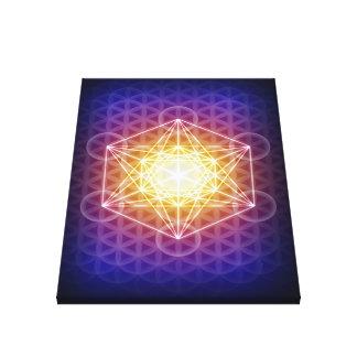 El cubo/la flor de Metatron de la impresión de la  Lona Estirada Galerías
