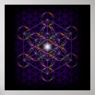El cubo/la flor de Metatron de la vida #2 Póster