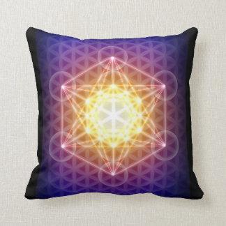 El cubo/la flor de Metatron de la vida Cojin