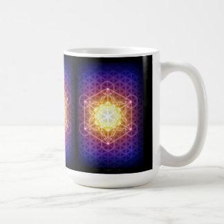 El cubo/la flor de Metatron de la vida Tazas