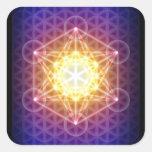 El cubo/la flor de Metatron del pegatina de la