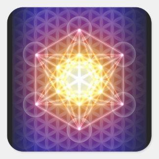 El cubo la flor de Metatron del pegatina de la vid