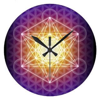 El cubo/la flor de Metatron del reloj de la vida