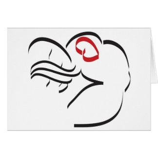 El cucharear tarjeta de felicitación