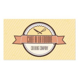 El cuchillo de encargo de los cocineros del color tarjetas de visita