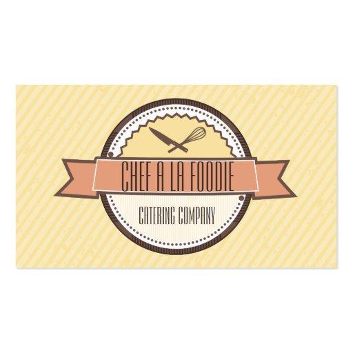 El cuchillo de encargo de los cocineros del color  plantilla de tarjeta personal