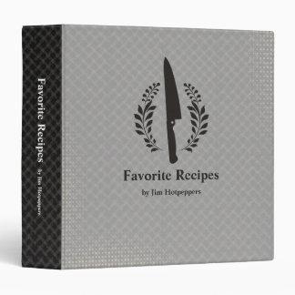 """El cuchillo del cocinero del estilo del vintage carpeta 1 1/2"""""""