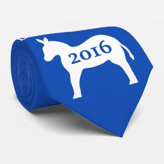 El cuello del hombre azul del burro de Demócrata Corbatas