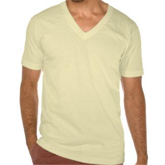 El cuello en v de los hombres de Cercano oeste Camisetas