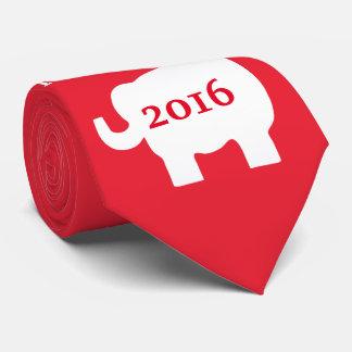 El cuello republicano del hombre rojo del elefante corbatas personalizadas