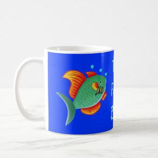 El cuenco de los pescados taza