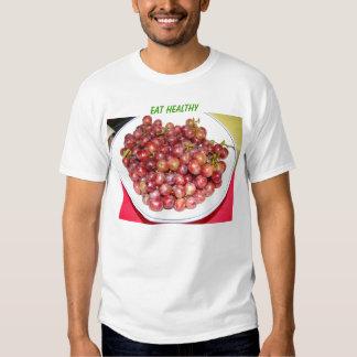 El cuenco de uvas, come sano remera