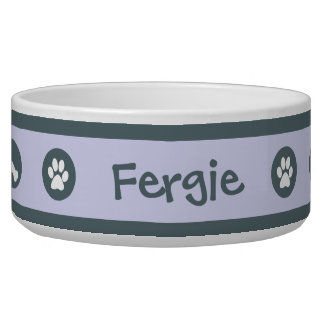 El cuenco en colores pastel azul personalizado del comedero para mascota