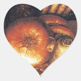 El cuenco vegetal pegatina de corazon