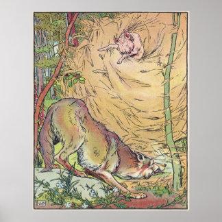 El cuento de hadas 1904 de la pequeña cerdos casa  póster