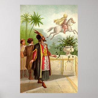 El cuento del Scheherazade encantado del caballo Poster