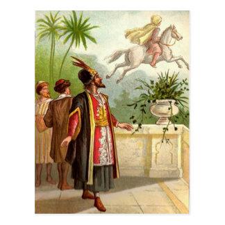 El cuento del Scheherazade encantado del caballo Tarjetas Postales