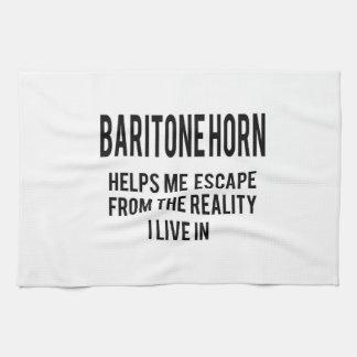 El cuerno de barítono me ayuda a escaparme de la toallas de mano