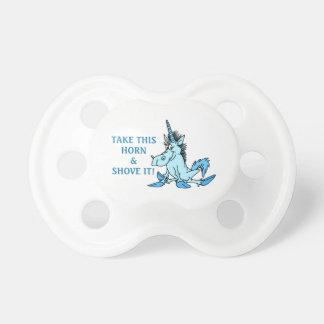 El cuerno del unicornio lo empuja chupetes para bebes