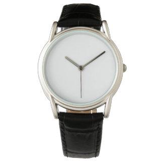 El cuero negro clásico W05 de los hombres del Reloj De Mano